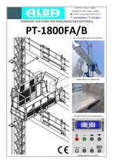 ново висечко скеле PT ALBA 1800FA/B